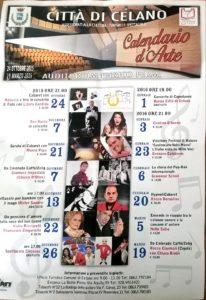 celano. locandina calendario d'arte