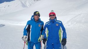 De Luca con il pluricampione Mondiale e Olimpico Gustav Thoeni