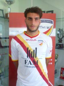 Vittorio Mariani con la maglia dell'Amiternina