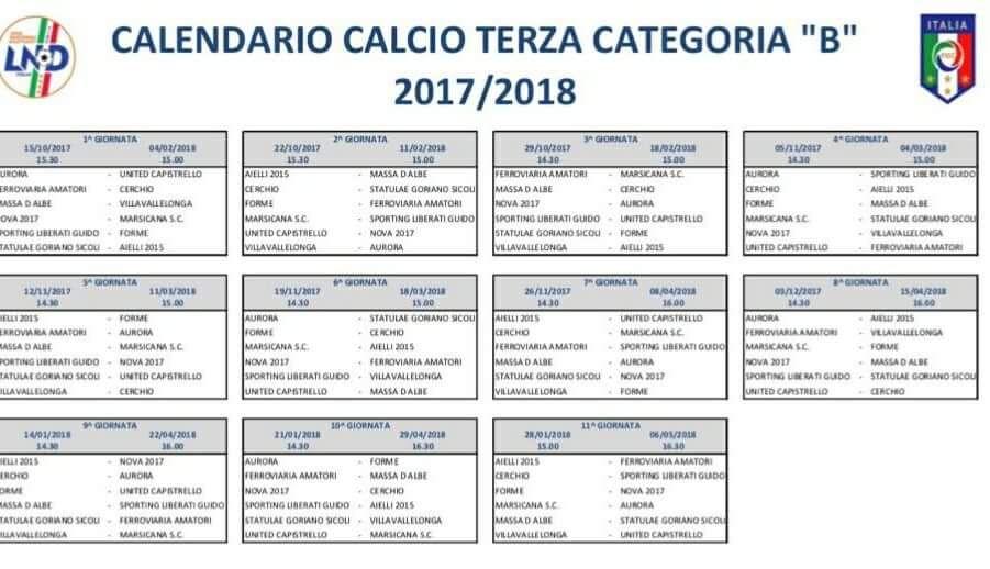 Calendario Terza Categoria.Ecco Il Calendario Completo Della Terza Categoria Il Faro 24