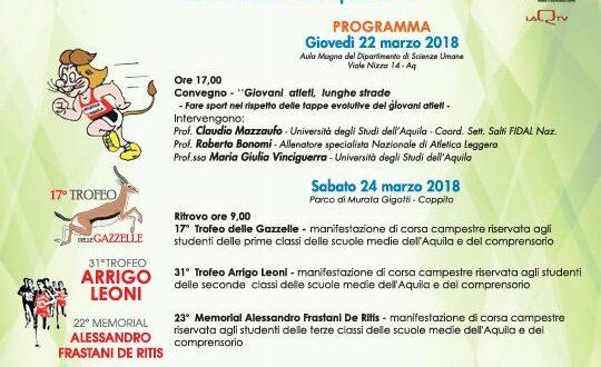 ASD ATLETICA L'AQUILA, INIZIA LA PRIMAVERA DELL'ATLETICA A MURATA GIGOTTI