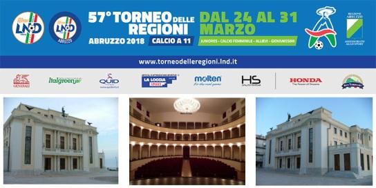 GIOVEDI' 22 MARZO  AL TEATRO TOSTI DI ORTONA LA PRESENTAZIONE DEL TORNEO DELLE REGIONI E DELLO STAFF
