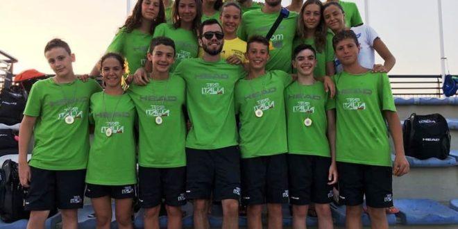 Il Team Centro Italia sul gradino più alto del podio ai campionati regionali di nuoto