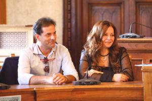 i conduttori Paolo Del Vecchio e Alina Di Mattia