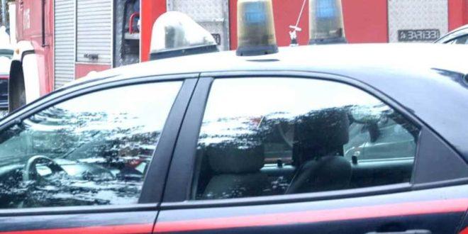 TAGLIACOZZO. AUTO IN FIAMME, PROVVIDENZIALE IL TEMPESTIVO INTERVENTO DEI VIGILI DEL FUOCO