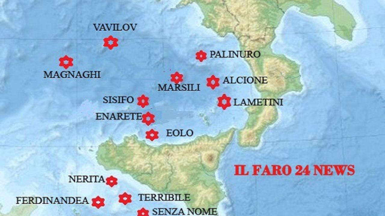 Cartina Vulcani Nel Mondo.I Vulcani Sottomarini Sul Territorio Italiano Il Faro 24