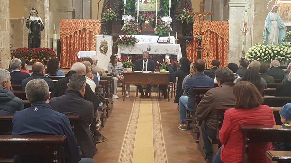 Manuela Ciaccia, Giancarlo Sociali durante la presentazione del libro La Contea dei Marsi