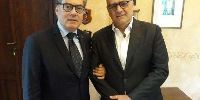 AVEZZANO, INCONTRO COMMISSARIO PASSEROTTI ED EX SINDACO DE ANGELIS