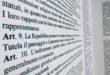 Aielli come Utopia: la Costituzione scritta su un muro