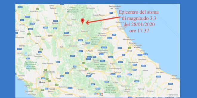 SCOSSA DI TERREMOTO AD ACCUMOLI, MAGNITUDO 3,3