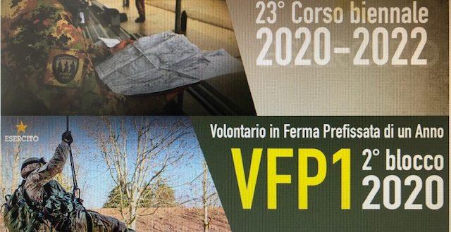 ESERCITO ITALIANO. CONCORSI PUBBLICI PER L'AMMISSIONE AL 23° CORSO BIENNALE ALLIEVI MARESCIALLI E AL 2°BLOCCO VFP1
