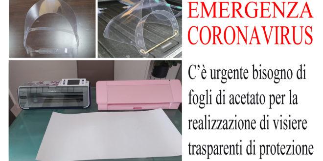 Avezzano, emergenza coronavirus. Giovane mamma realizza visiere trasparenti per il personale sanitario
