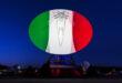 FESTA DELLA REPUBBLICA, IL TELESPAZIO ILLUMINA CON I COLORI DELLA BANDIERA ITALIANA LA SUA ANTENNA PIÙ GRANDE