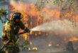 Meteo. Sull'incendio che brucia la flora aquilana in aiuto arriva anche un acquazzone