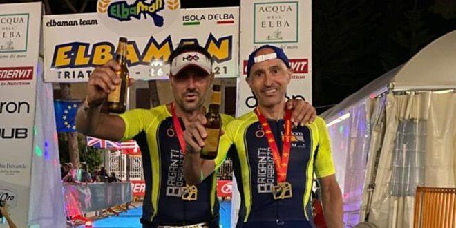 Briganti d'Abruzzo protagonisti alla 16 esima edizione dell'Elbaman: Marsibilio e Giordani finisher ad uno degli Iron man più duri al mondo.